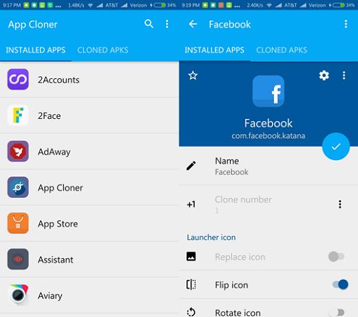 Sử dụng App Cloner để đăng nhập nhiều tài khoản Zalo cùng lúc