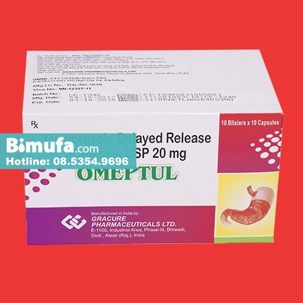 Thông tin thuốcOmeptul ghi trên bao bì